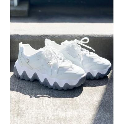 Shoes in Closet -シュークロ- / ギザギザソール 厚底ダットスニーカー《約6.0㎝ソール》 1811 WOMEN シューズ > スニーカー
