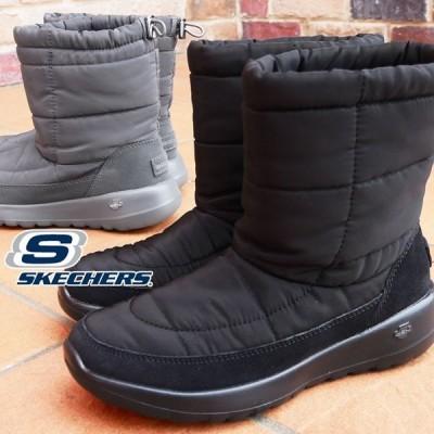 スケッチャーズ SKECHERS ブーツ レディース 16615 オン-ザ-ゴー ジョイ-ステイコージー ショートブーツ 防寒ブラック チャコール