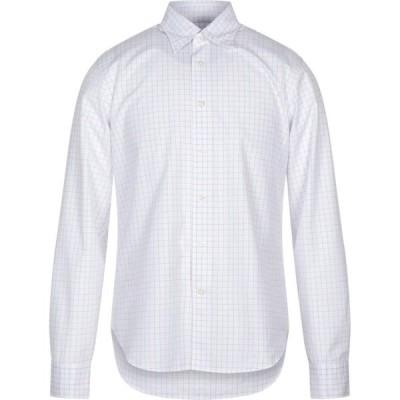 ベルローズ BELLEROSE メンズ シャツ トップス checked shirt White