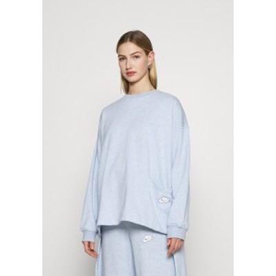 ナイキ レディース パーカー・スウェットシャツ アウター CREW EARTH DAY - Sweatshirt - lightt armory blue lightt armory blue