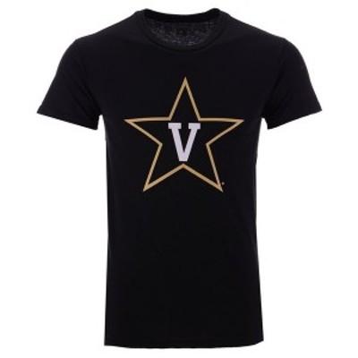 ニュー アジェンダ メンズ Tシャツ トップス Men's Vanderbilt Commodores Big Logo T-Shirt Black