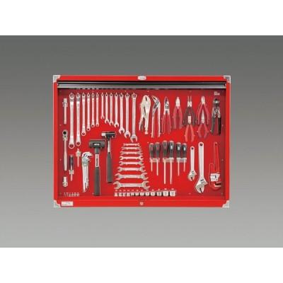 ESCO [73個組] 工具セット(シャッター付) EA612SC-60