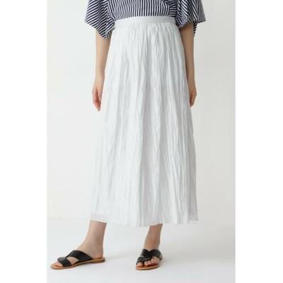 HUMAN WOMAN/ヒューマンウーマン ◆カールマイヤープリーツチンツ加工スカート グレー M