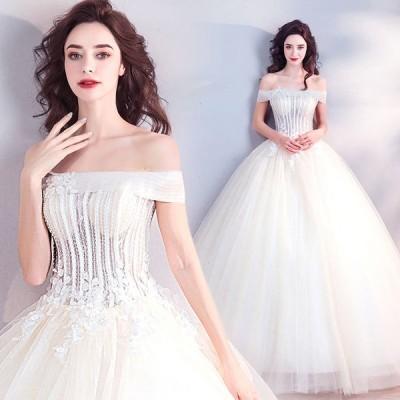 ウエディングドレス レディース 演奏会ドレス 花嫁ドレス 上品な ブライダルドレス 素敵な ベアトップ Aライン ロングドレス オシャレ プリンセスドレス