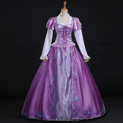 ハロウィン 女性用 コスプレ 仮装 ドレス  レディース なりきりワンピース ロング 女王 大きいサイズ 女性 衣装 姫ドレス コスチューム プリンセス プリンセスド