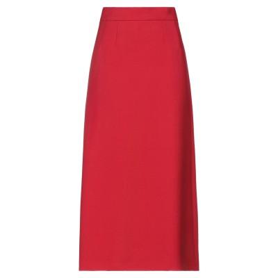 ドルチェ & ガッバーナ DOLCE & GABBANA ロングスカート レッド 36 バージンウール 100% ロングスカート