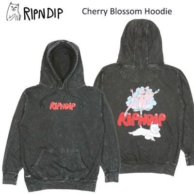 リップンディップ(RIPNDIP) Cherry Blossom Hoodie  Grey Mineral Wash  スウェット フード プルオーバー/パーカー/男性用/メンズ 送料無料 [BB]