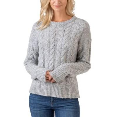 ベルディーニ レディース ニット&セーター アウター Black Label Crew Neck Exploded-Cable Pullover Sweater Medium Gray