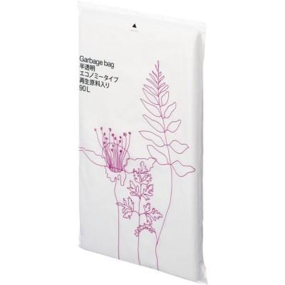 オリジナルゴミ袋 エコノミータイプ 再生原料40%HD 90L 半透明 1パック(20枚入) アスクル