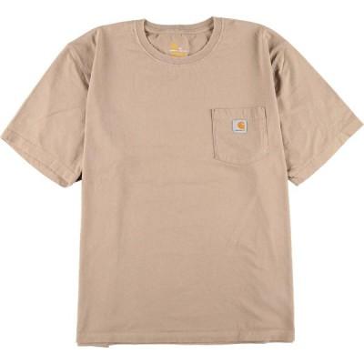 カーハート ワンポイントロゴポケットTシャツ XL /eaa050715