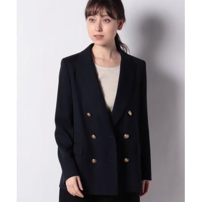 【レリアン】 ダブルブレストジャケット レディース ネイビー 9 Leilian