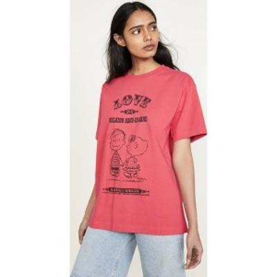 (取寄)マークジェイコブス x ピーナッツ ラブ Tシャツ The Marc Jacobs x Peanuts Love T-Shirt Red