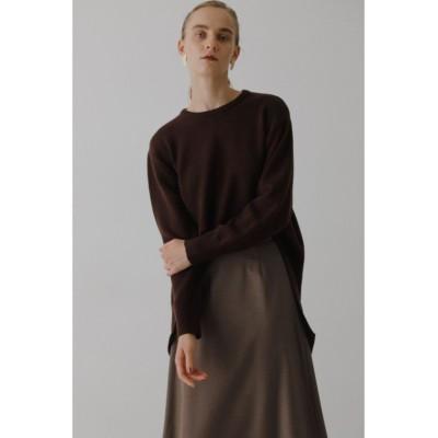 【リムアーク】 Back flare knit tops レディース BRN FREE RIM.ARK