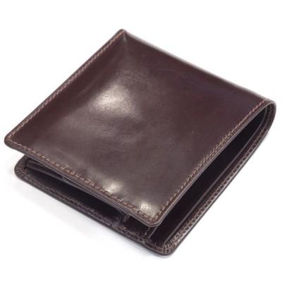 ホワイトハウスコックス(Whitehouse Cox)《S7532 二つ折りコインケース付ウオレット(小銭付き財布)ブライドルレザー 定番モデル》HAVANA(ハバナ)