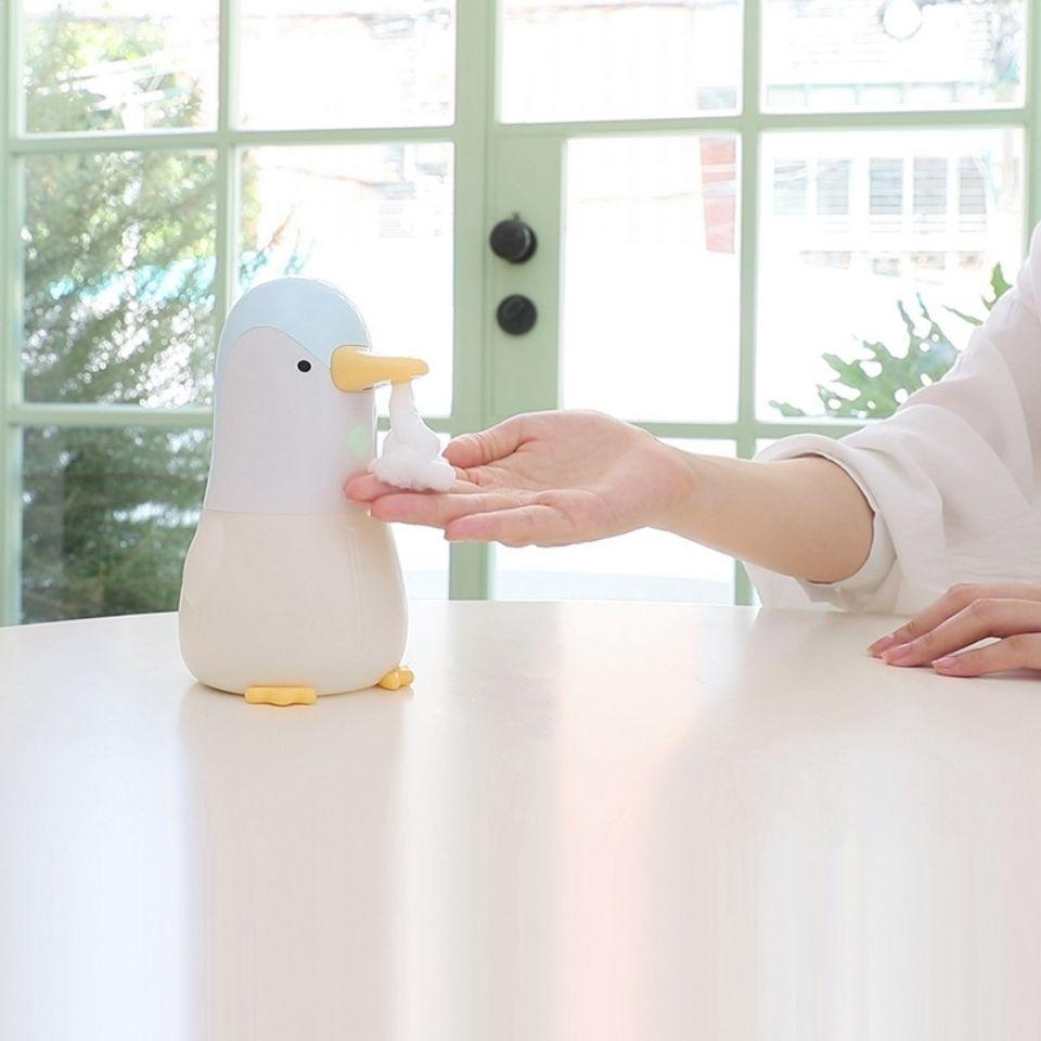覓萌企鵝泡泡洗手機可愛小型自動感應泡沫型皂液器USB充電洗手機【5月18日發完】【艾莎嚴選】