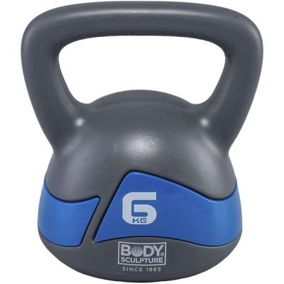 BODY SCULPTURE ケトルベル 6kg 錆びない PE コーティング 筋力 体幹 ファンクショナルトレーニング