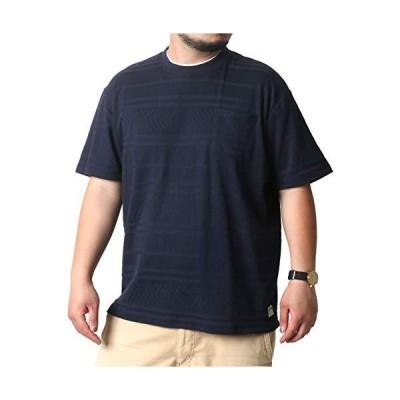 [スミスアメリカン] 大きいサイズ メンズ Tシャツ 半袖 ポケット ネイビー 2Lサイズ:(身丈74cm 肩幅52cm 身幅60cm 袖丈24cm