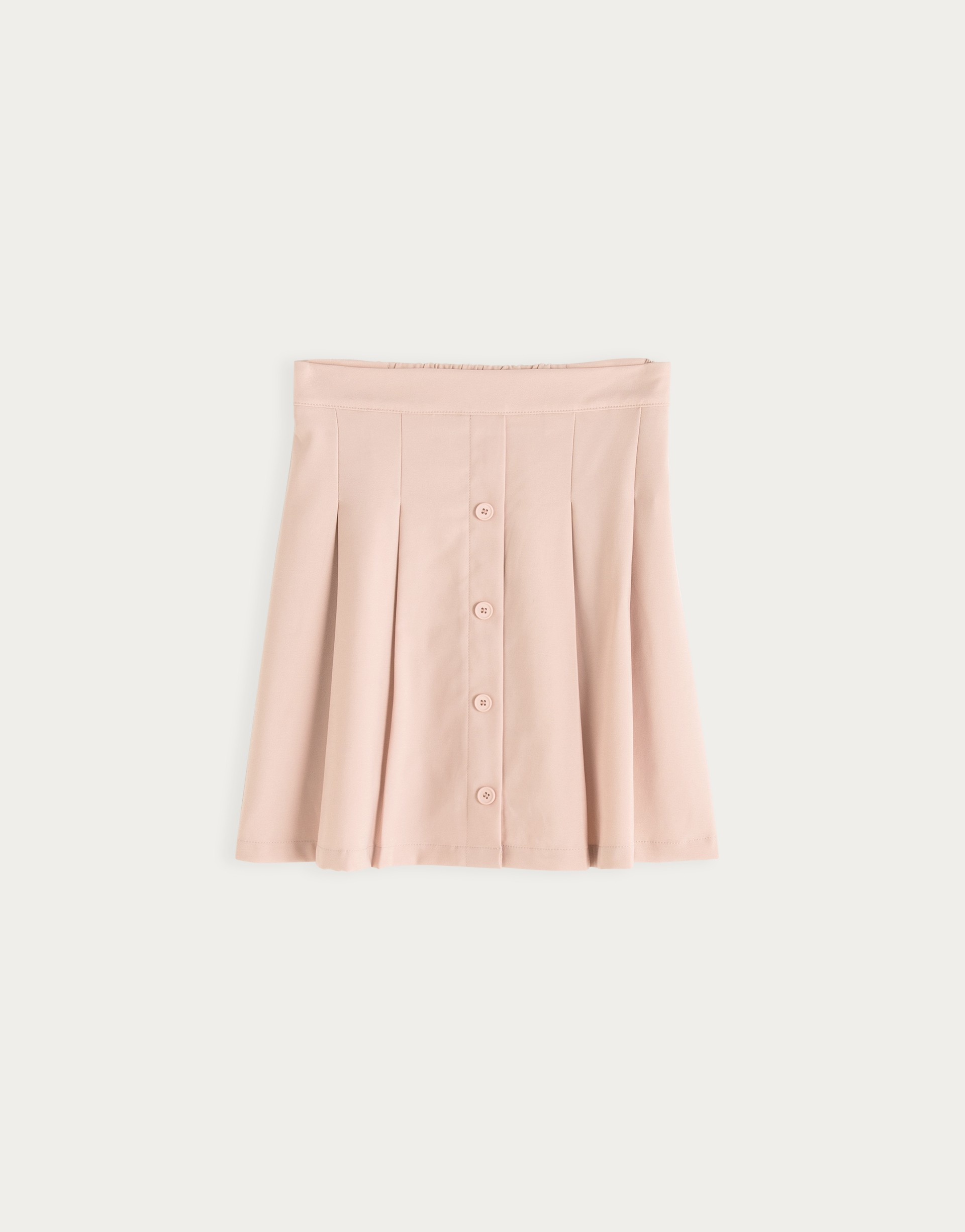 基本款百搭打褶短裙-PAZZO