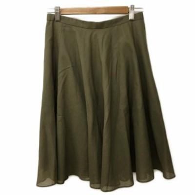 【中古】ボールジー BALLSEY トゥモローランド スカート フレア ひざ丈 38 緑 グリーン レディース