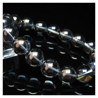 パワーストーン 天然石 レインボーオーラ水晶ブレスレット12mm t125-5379