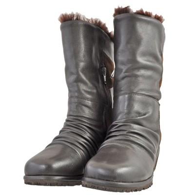 レディース 靴 ブーツ マドラス シティーゴルフ 本革 ファー付き ミドルブーツ 送料無料 ダークブラウン GFL20054DBR