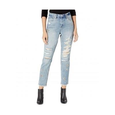 Blank NYC ブランクエヌワイシー レディース 女性用 ファッション ジーンズ デニム Snake Printed Star Patch Crop Girlfriend Jeans in Star Child - Star C..