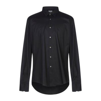PORTOFIORI シャツ ブラック S コットン 97% / ポリウレタン 3% シャツ
