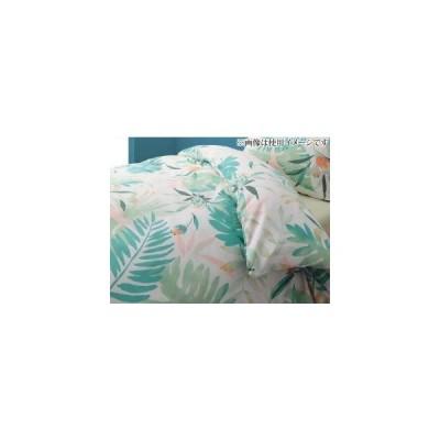 おしゃれ シングル 1人暮らし ワンルーム 南国リゾートボタニカルデザイン テンセル混カバーリング 掛け布団カバー シングル