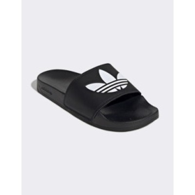 アディダス レディース サンダル シューズ adidas Originals adilette Lite sliders in black Black