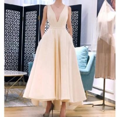 オフショルダー スリット入り ウェディングドレス 白 二次会 花嫁 カラードレス 大きいサイズ ウェディング 白 ワンピース