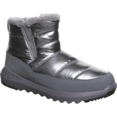 ベアパウ Bearpaw レディース ブーツ ショートブーツ シューズ・靴 Puffy Quilted Ankle Bootie Pewter