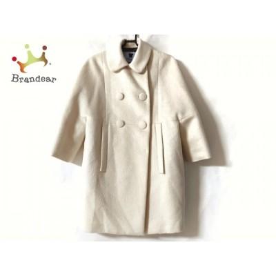ブルマリン BLUMARINE コート サイズ38 S レディース 美品 - アイボリー 変形袖/冬 新着 20210131
