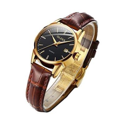 うで時計 レディース 腕時計 時計 れでいーす 女性用 おしゃれ 防水 ブラウン 革ベルト クオーツ ブランド シンプル アナログ かわいい カジュア