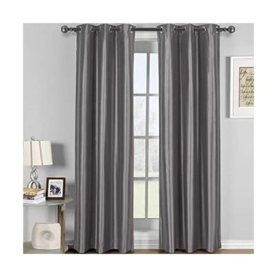 110cm x 270cm  Gray/Silver - Soho Grey-Silver Grommet Blackout Window Curta