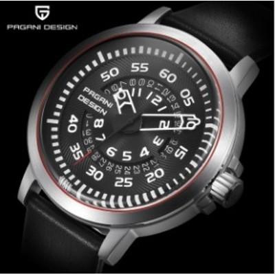 スポーツウォッチ 防水レザークォーツ時計 ユニークデザイン カレンダー メンズ腕時計 高品質