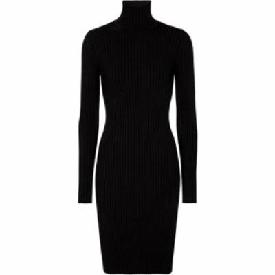 ウォルフォード Wolford レディース ワンピース ミニ丈 ワンピース・ドレス Ribbed-knit merino wool and cotton minidress Black