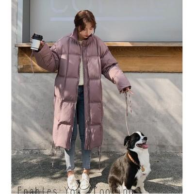 学生 希少 通学 上質コート レディース ロング丈コート 中綿ジャケット 上着 カジュアル 防寒 防風 OL 通勤 暖かい アウター