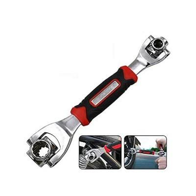 【新品】Artensky Socket Wrench Spanner 360 Degree Multi-Head 8-19mm Spline Bolts To