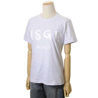 MSGM エムエスジーエム レディース Tシャツ MDM160 296 94 XS/S/M カットソー ブランドロゴ 半袖Tシャツ グレー