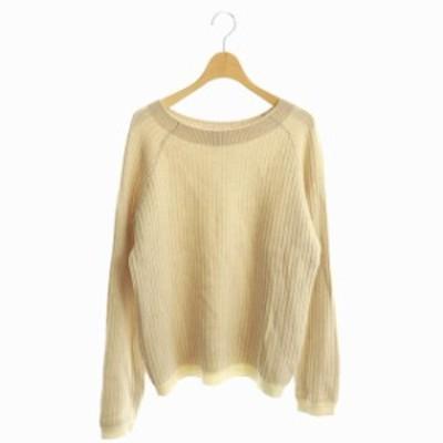 【中古】セオリー theory 18AW Royal Wool Oversized Rib セーター ニット プルオーバー 長袖 S ベージュ レディース