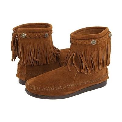 ミネトンカ Hi-Top Back Zip Boot レディース ブーツ Brown Suede