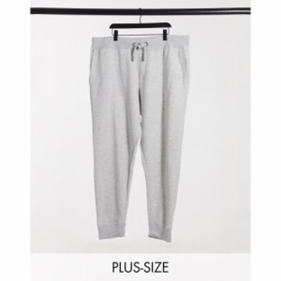 フレンチコネクション French Connection メンズ ジョガーパンツ Plus essentials slim fit jogger in grey mix and match in grey ライ