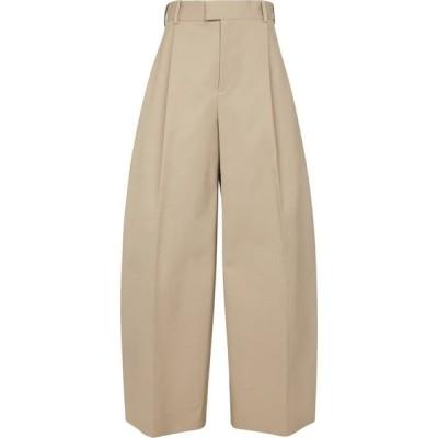 ボッテガ ヴェネタ Bottega Veneta レディース ボトムス・パンツ High-rise wide-leg cotton pants Sand