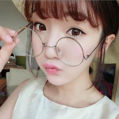 伊達メガネ おしゃれ 上級女子 マストバイアイテム レトロチック 大きめ 丸メガネ レディース メンズ