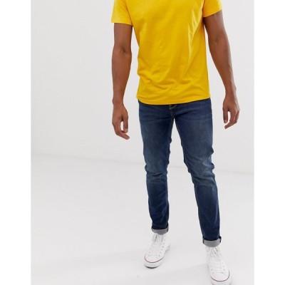 エイソス ジーンズ メンズ ASOS DESIGN skinny jeans in dark wash エイソス ASOS