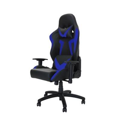 ファージル オフィスチェア BK/BL (ゲームチェア,デスクチェア,ロッキング,リクライニング,ヘッドレスト,ランバーサポート,昇降,回転)