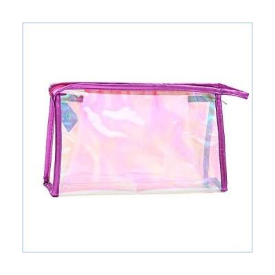 Veepola Women Colorful Transparent Portable Makeup Cosmetic Toiletry Travel Cosmetic Bag Girls Multifunction Makeup Brush Bag Waterproof Wash Bag (Hot