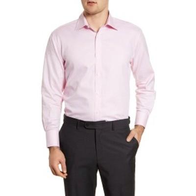 イングリッシュランドリー メンズ シャツ トップス Solid Regular Fit Dress Shirt PINK