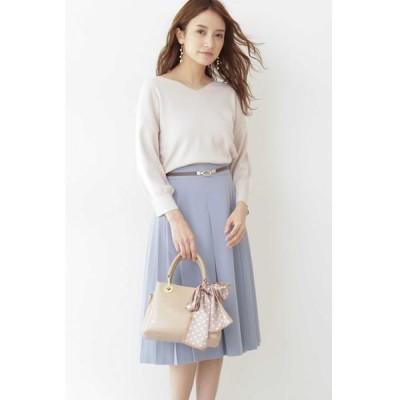 PROPORTION BODY DRESSING/プロポーションボディドレッシング  ◆ベルト付タックフレアスカート ブルー 2