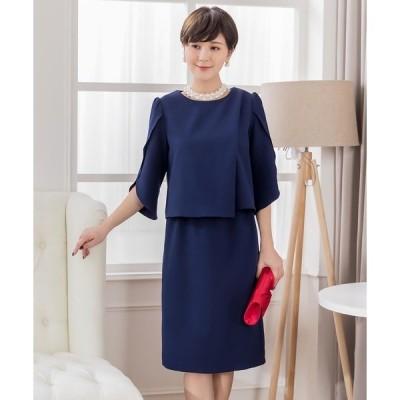 ドレス ふんわり袖ツーピース